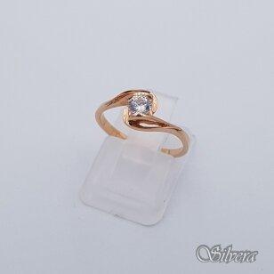 Auksinis žiedas su cirkoniu AZ227; 16 mm