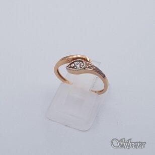 Auksinis žiedas su cirkoniu AZ241; 16,5 mm