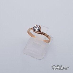 Auksinis žiedas su cirkoniu AZ248; 16,5 mm