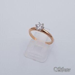Auksinis žiedas su cirkoniu AZ250; 16,5 mm