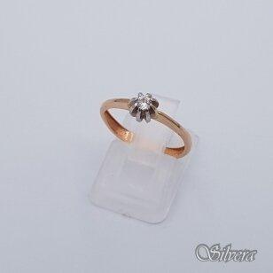 Auksinis žiedas su cirkoniu AZ251; 16,5 mm
