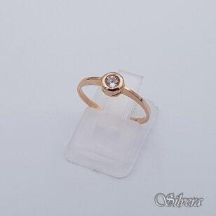 Auksinis žiedas su cirkoniu AZ253; 16,5 mm