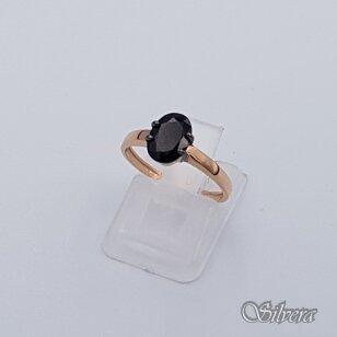Auksinis žiedas su cirkoniu AZ281; 17,5 mm