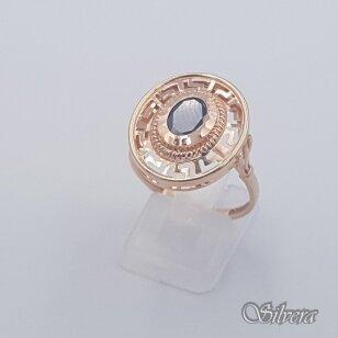 Auksinis žiedas su cirkoniu AZ448; 19,5 mm