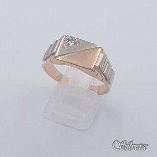 Auksinis žiedas su cirkoniu AZ479; 21,5 mm