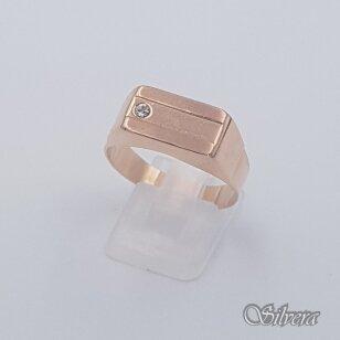 Auksinis žiedas su cirkoniu AZ480; 21,5 mm