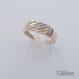 Auksinis žiedas su cirkoniu AZ487; 23,5 mm