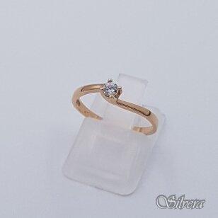 Auksinis žiedas su cirkoniu AZ496; 17 mm