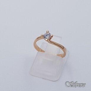 Auksinis žiedas su cirkoniu AZ497; 16 mm