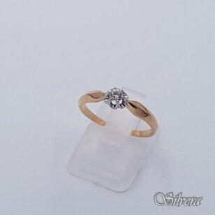 Auksinis žiedas su cirkoniu AZ502; 17,5 mm