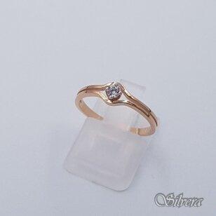 Auksinis žiedas su cirkoniu AZ503; 16 mm