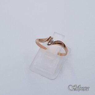 Auksinis žiedas su cirkoniu AZ59; 16,5 mm
