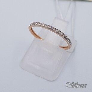 Auksinis žiedas su deimantais AZ903; 16 mm
