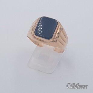 Auksinis žiedas su oniksu AZ484; 22,5 mm