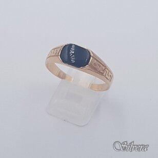 Auksinis žiedas su oniksu AZ486; 23 mm