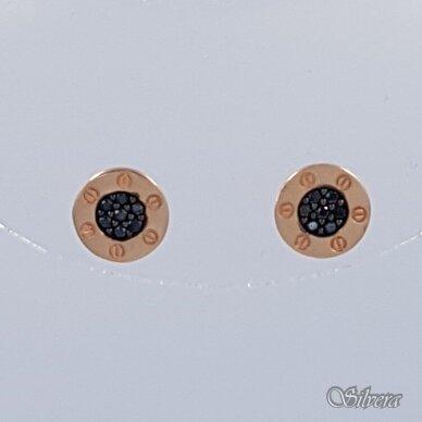 Aukksiniai auskarai su cirkoniais AE11 2