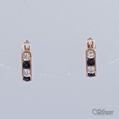 Auksiniai auskarai su cirkoniais AE16
