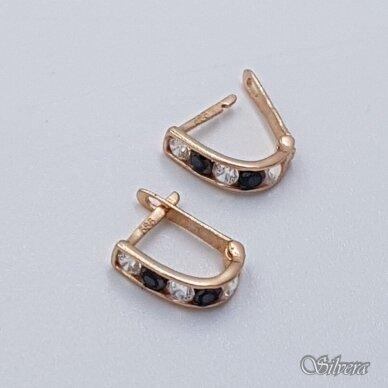 Auksiniai auskarai su cirkoniais AE16 2