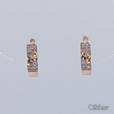 Auksiniai auskarai su cirkoniais AE18