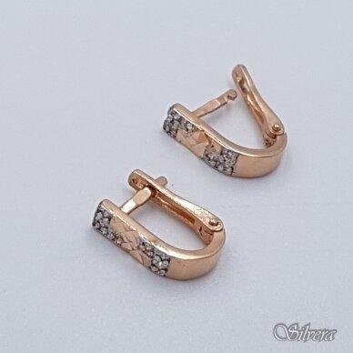 Auksiniai auskarai su cirkoniais AE18 2