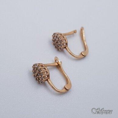Auksiniai auskarai su cirkoniais AU150 2