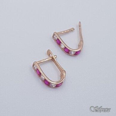 Auksiniai auskarai su cirkoniais AU230 2
