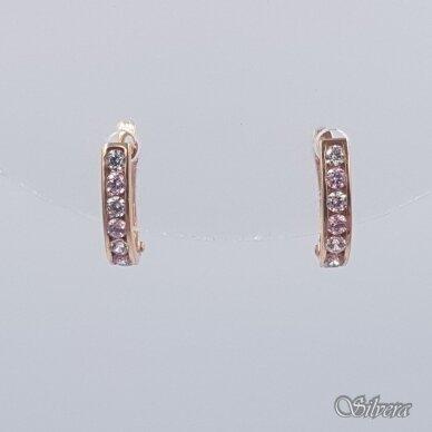 Auksiniai auskarai su cirkoniais AU231