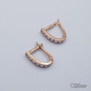 Auksiniai auskarai su cirkoniais AU231 2