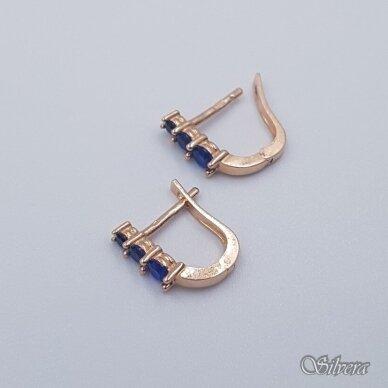 Auksiniai auskarai su cirkoniais AU235 2