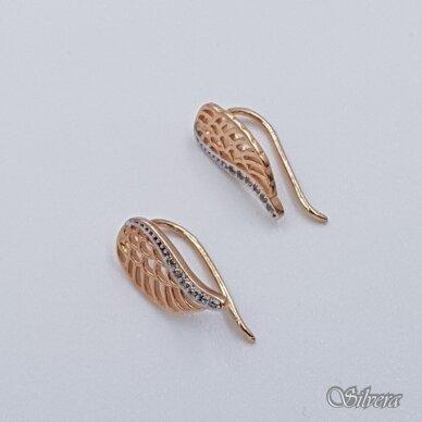 Auksiniai auskarai su cirkoniais AU295 2
