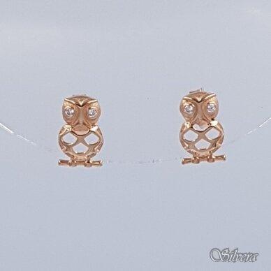 Auksiniai auskarai su cirkoniais AU298