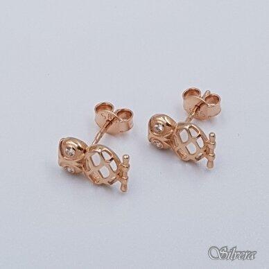 Auksiniai auskarai su cirkoniais AU298 2