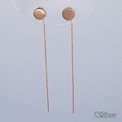 Auksiniai auskarai su cirkoniais AU337 2