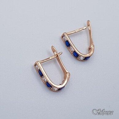 Auksiniai auskarai su cirkoniais AU371 2