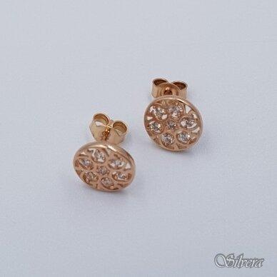 Auksiniai auskarai su cirkoniais AU381