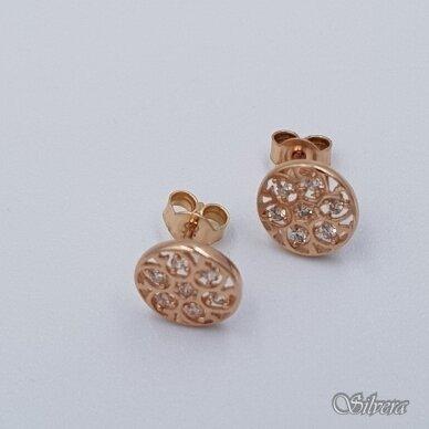 Auksiniai auskarai su cirkoniais AU381 2