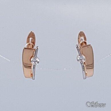 Auksiniai auskarai su cirkoniu AE21