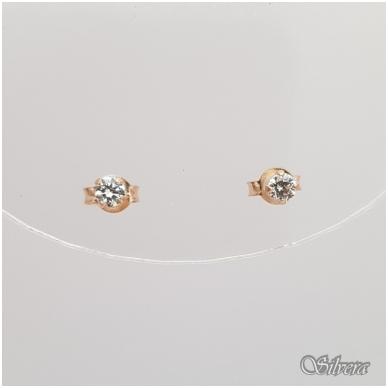 Auksiniai auskarai su cirkoniu AU12 3