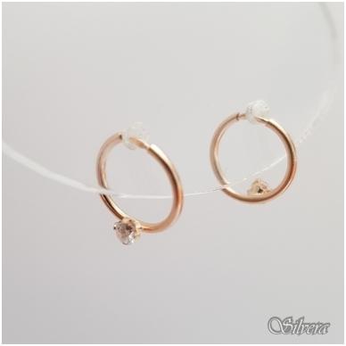 Auksiniai auskarai su cirkoniu AU14 2