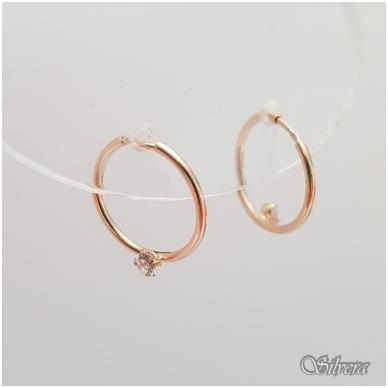 Auksiniai auskarai su cirkoniu AU15 2