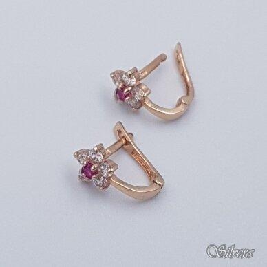 Auksiniai auskarai su cirkoniais AU236 2