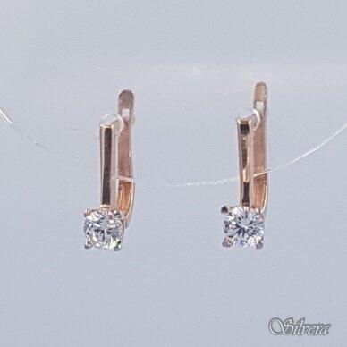 Auksiniai auskarai su cirkoniu AU256