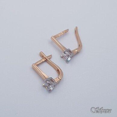 Auksiniai auskarai su cirkoniu AU256 2