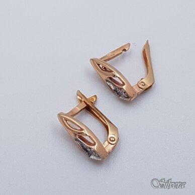 Auksiniai auskarai su cirkoniu AU348 2