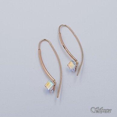 Auksiniai auskarai su cirkoniu AU373