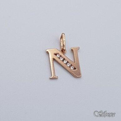 """Auksinis pakabukas su cirkoniais raidė """"N"""" AP234"""