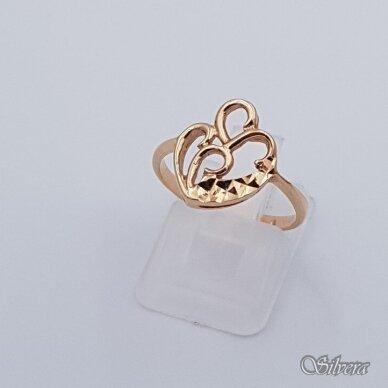 Auksinis žiedas AZ336; 17 mm