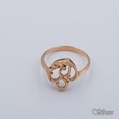 Auksinis žiedas AZ336; 17 mm 2