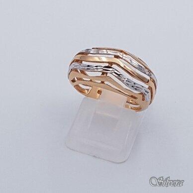 Auksinis žiedas AZ337; 17 mm