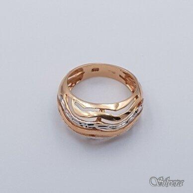 Auksinis žiedas AZ337; 17 mm 2